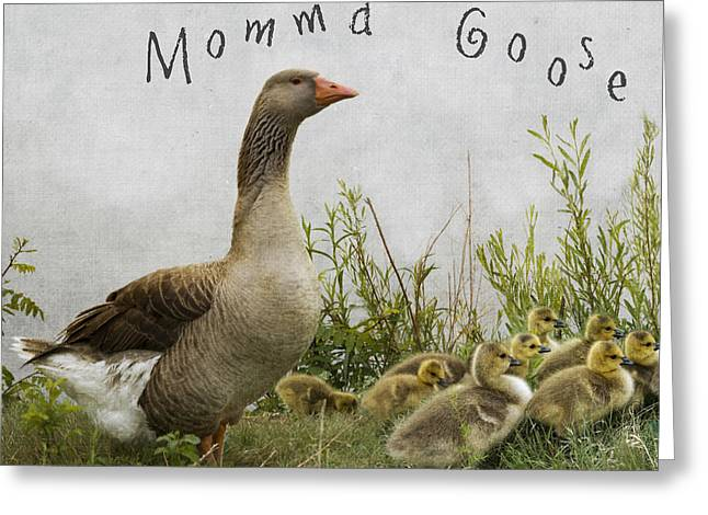 Mother Goose Greeting Card by Juli Scalzi