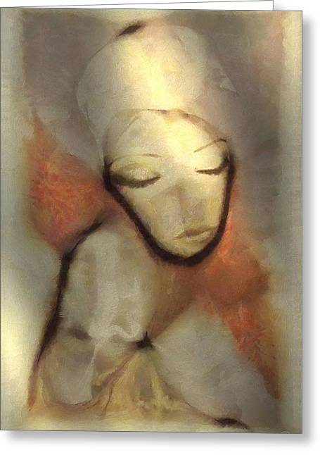 Woman Head Greeting Cards - Mother Greeting Card by Gun Legler