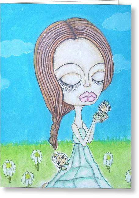 Nursery Pastels Greeting Cards - Mother Nature Greeting Card by Alyssa Lyne