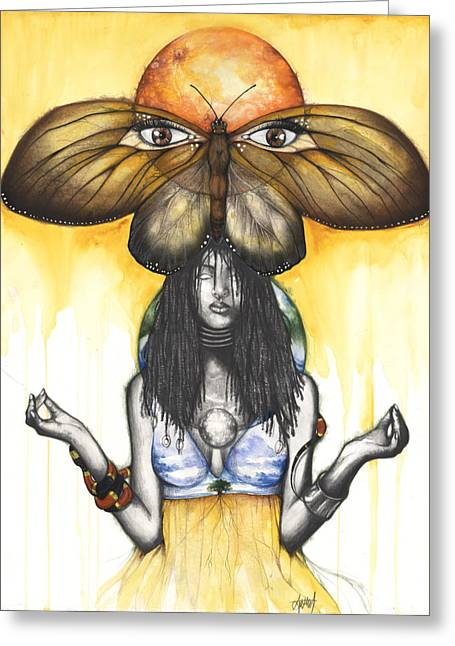 Spirt Greeting Cards - Mother Nature IX Greeting Card by Anthony Burks Sr