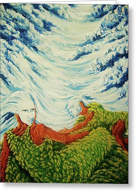 Best Sellers -  - Pralhad Gurung Greeting Cards - Mother Nature Greeting Card by Pralhad Gurung