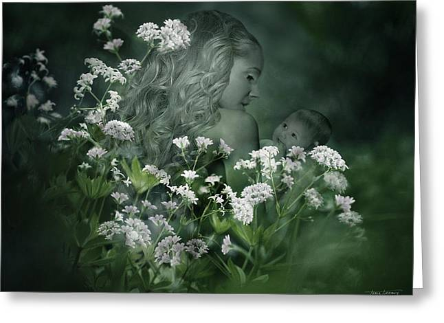 Floral Digital Art Digital Art Greeting Cards - Mother Nurture Greeting Card by Torie Tiffany