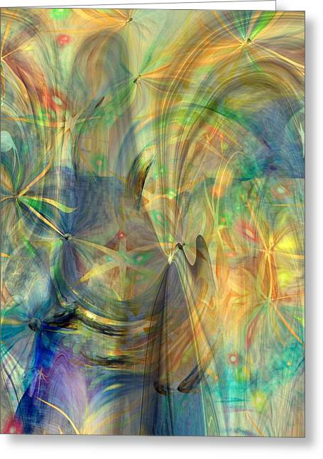 Abstract Expression Greeting Cards - Mother of Angels Greeting Card by Linda Sannuti