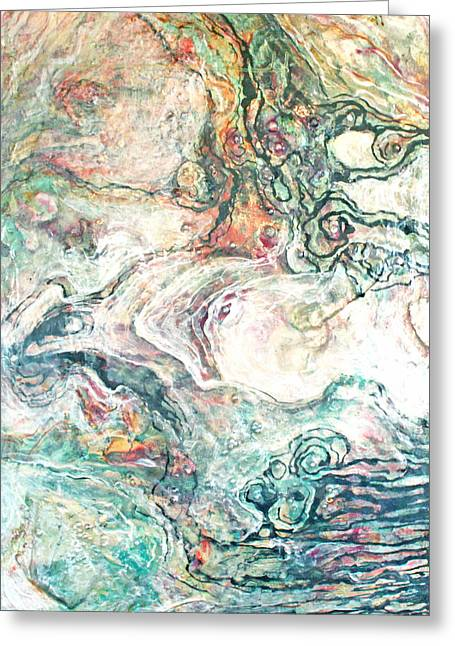 Bagua Art Mixed Media Greeting Cards - Mother of Pearl no. nine Greeting Card by Catherine Foster