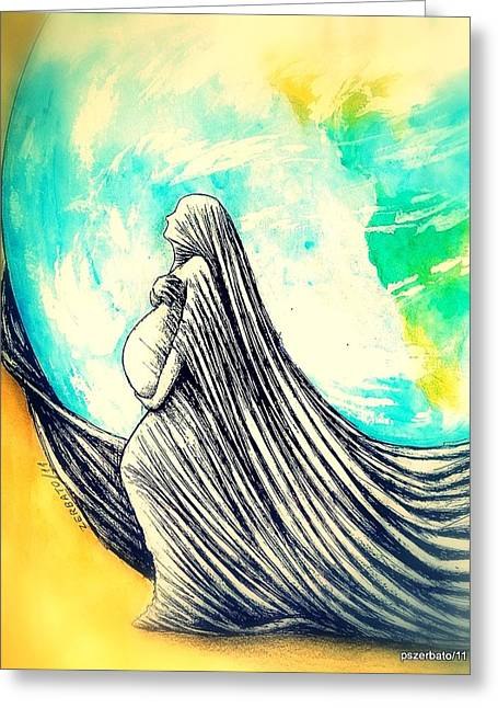 Female. Sensitivity Greeting Cards - Mother Greeting Card by Paulo Zerbato