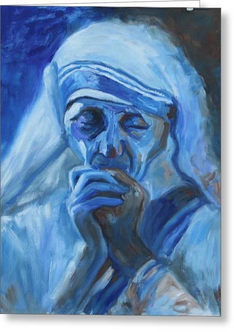 Mother Theresa Greeting Cards - Mother Greeting Card by Sagarika Sen