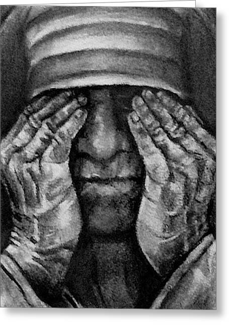 Mother Theresa Greeting Cards - Mother Theresa Greeting Card by Curtis James
