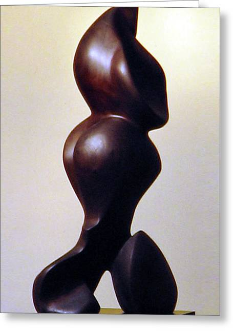 Loving Sculptures Greeting Cards - Mother Touch Greeting Card by Lonnie Tapia