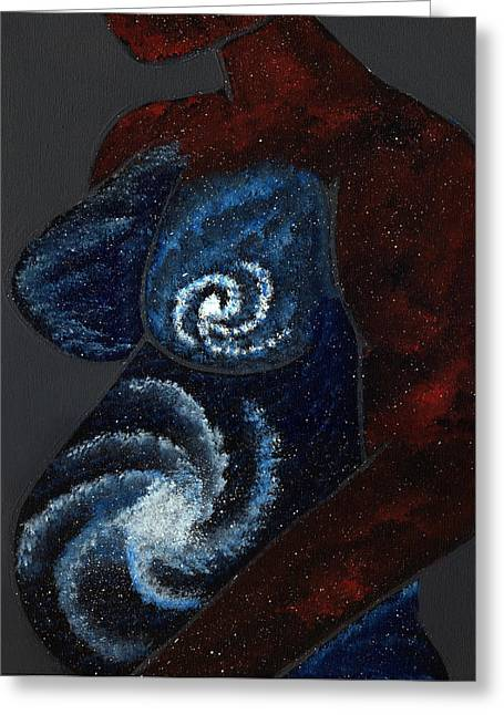 Universal Mother Greeting Cards - Mother Universe Greeting Card by Lisa Orban