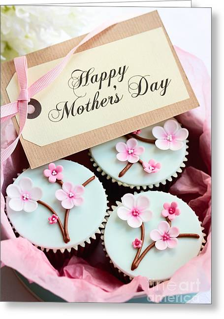 Mother Gift Greeting Cards - Mothers day cupcakes Greeting Card by Ruth Black