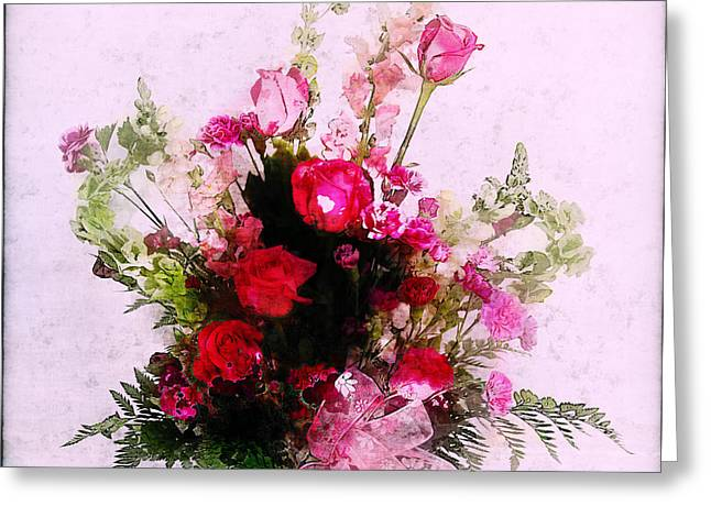 Bells Of Ireland Greeting Cards - Mothers Day Flowers Greeting Card by Judi Bagwell