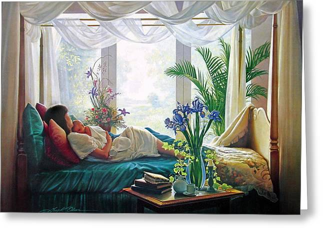 Mom Paintings Greeting Cards - Mothers Love Greeting Card by Greg Olsen