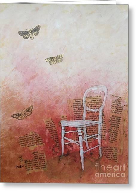 Moths Greeting Card by Paul OBrien