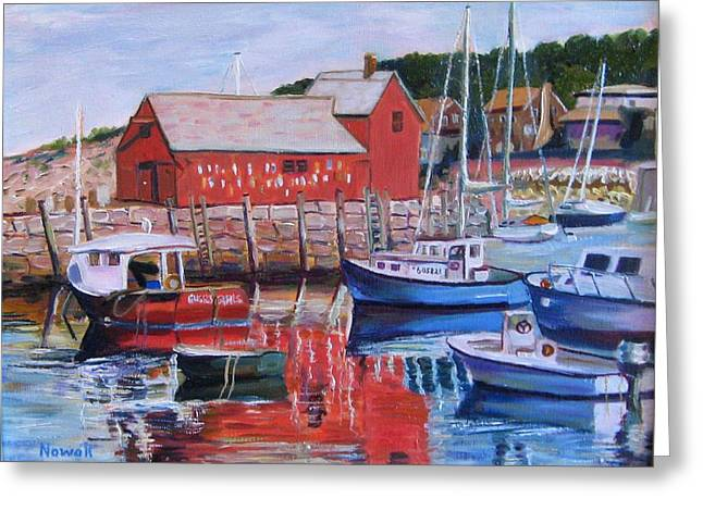Lobster Shack Paintings Greeting Cards - Motif Number One Greeting Card by Richard Nowak