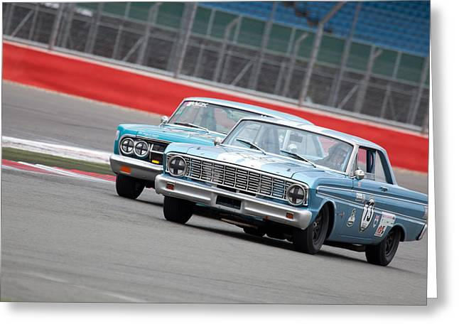 Ford Sprints Greeting Cards - Motorsport Greeting Card by Charlotte Moss