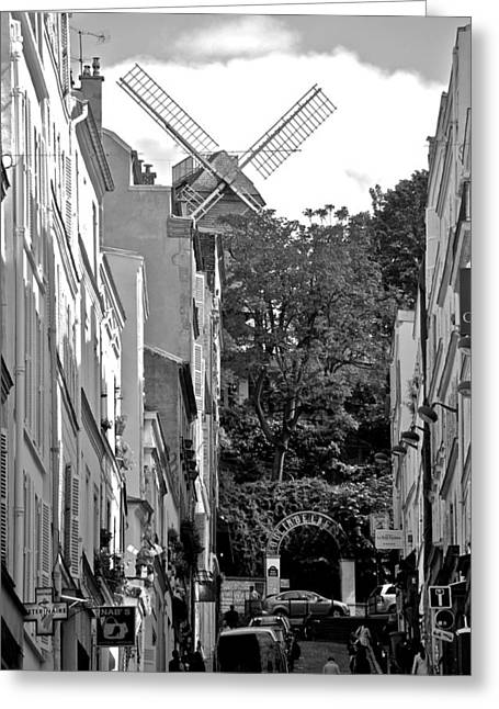 Rue Lepic Greeting Cards - Moulin De Montmartre Greeting Card by Eric Tressler