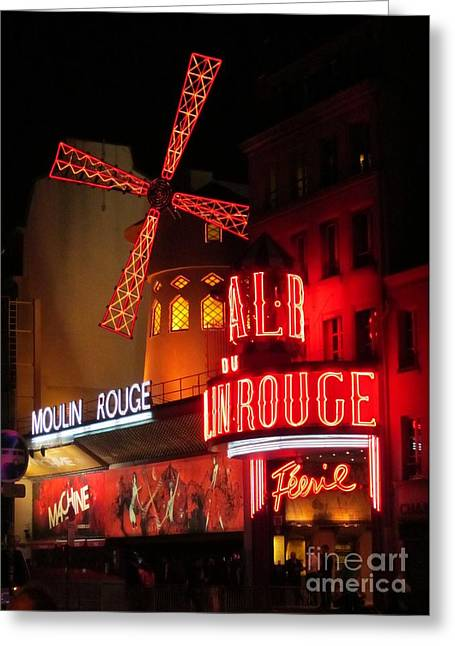 Halifax Art Galleries Greeting Cards - Moulin Rouge Greeting Card by John Malone