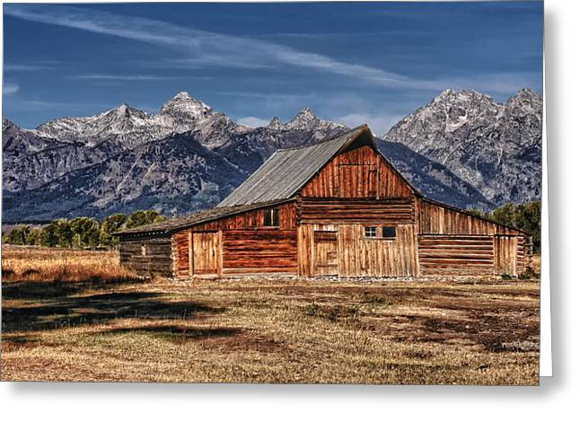 Barn Digital Art Greeting Cards - Moulton Barn Greeting Card by Wade Aiken