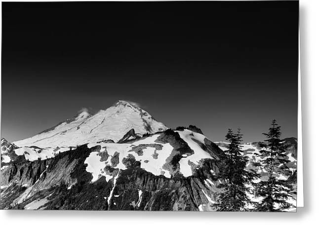 Cascade Mountains Greeting Cards - Mount Baker in Washington Greeting Card by Brendan Reals