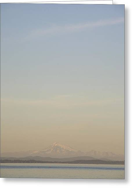 Baker Island Greeting Cards - Mount Baker Lies On The Horizon Greeting Card by Taylor S. Kennedy