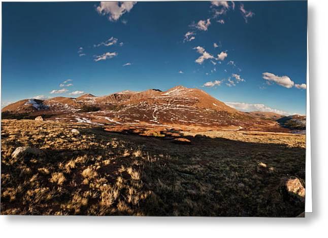 Mount Bierstadt Panorama 2 Greeting Card by Richard Steinberger