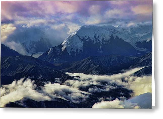 Denali Greeting Cards - Mount Brooks Greeting Card by Rick Berk