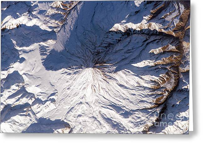 21st Greeting Cards - Mount Damavand Volcano, Iran, From Iss Greeting Card by NASA / Science Source