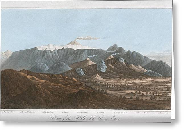 Principles Greeting Cards - Mount Etna, 19th Century Greeting Card by King