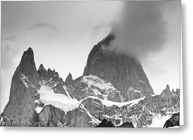 Nountains Greeting Cards - Mount Fitzroy Greeting Card by Marko Moudrak