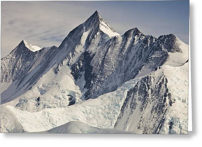 Mountain Peak Greeting Cards - Mount Herschel Above Cape Hallett Greeting Card by Colin Monteath