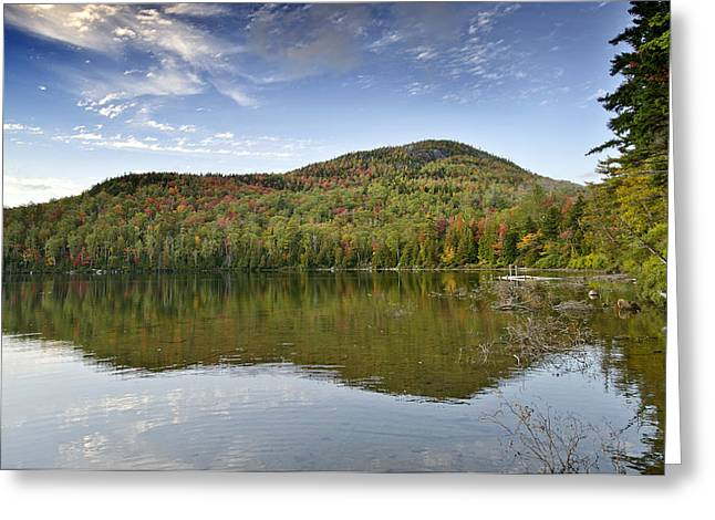 Heart Lake Greeting Cards - Mount Jo on Heart Lake in Adirondack Park - New York Greeting Card by Brendan Reals