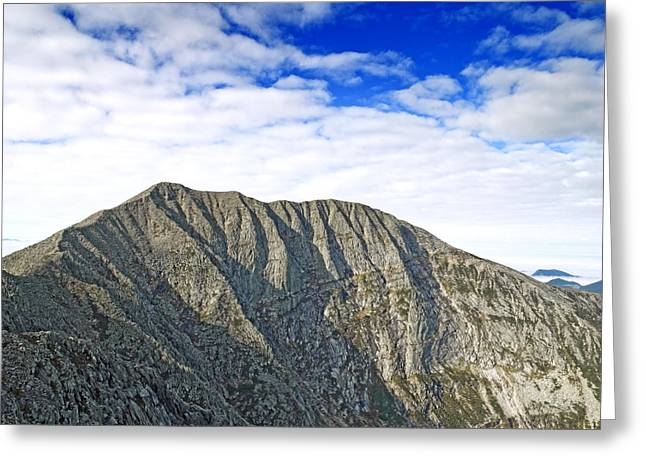 Baxter Park Greeting Cards - Mount Katahdin in Baxter State Park Maine Greeting Card by Brendan Reals