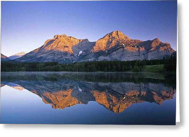 Canadian Prairies Greeting Cards - Mount Kidd, Wedge Pond, Kananaskis Greeting Card by Bilderbuch