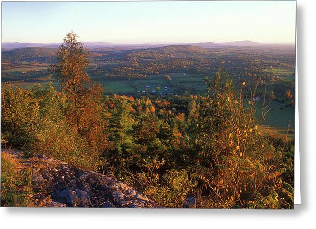 Charlotte Greeting Cards - Mount Philo Foliage View Greeting Card by John Burk