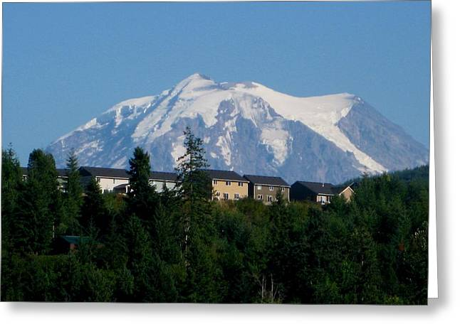 Mt. Massive Greeting Cards - Mount Rainier 3 Greeting Card by Kathy Long