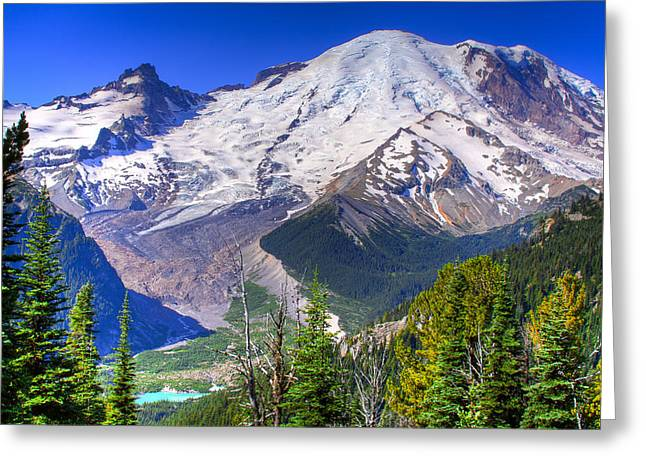David Patterson Greeting Cards - Mount Rainier III Greeting Card by David Patterson