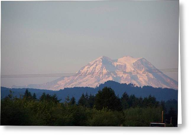 Pacific Northwest Pyrography Greeting Cards - Mount Rainier Washington  Greeting Card by Laurie Kidd