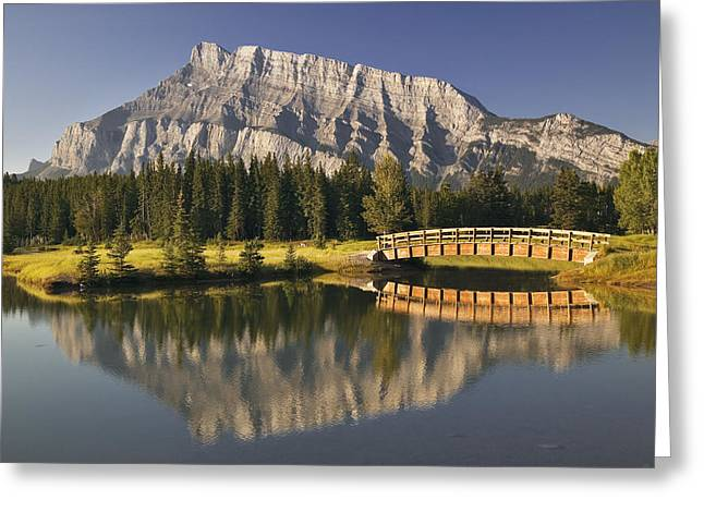 Mount Rundle And Cascade Ponds, Banff Greeting Card by Darwin Wiggett