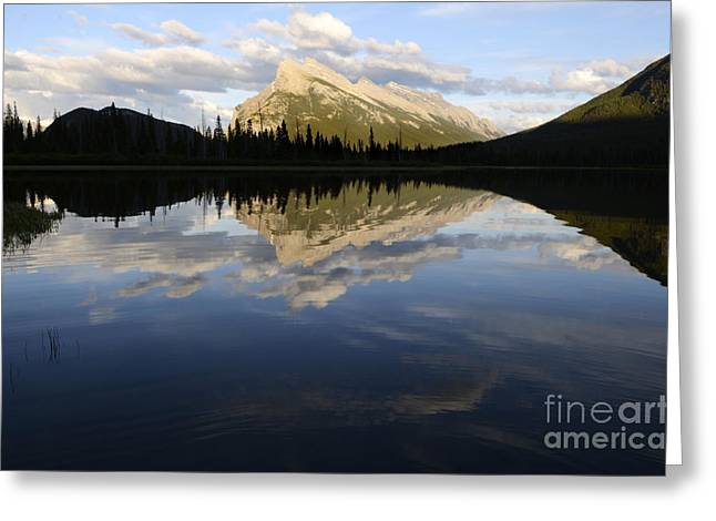 Vermillion Greeting Cards - Mount Rundle Banff 2 Greeting Card by Bob Christopher