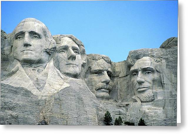 Add Greeting Cards - Mount Rushmore Greeting Card by American School