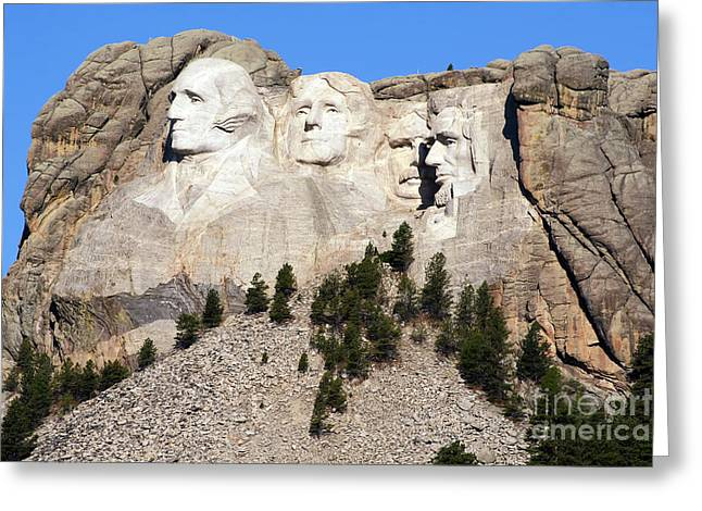 Borglum Greeting Cards - Mount Rushmore I Greeting Card by Teresa Zieba