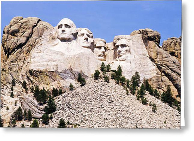 Dakota Faces Photographs Greeting Cards - Mount Rushmore in Daylight Greeting Card by Jeremy Woodhouse