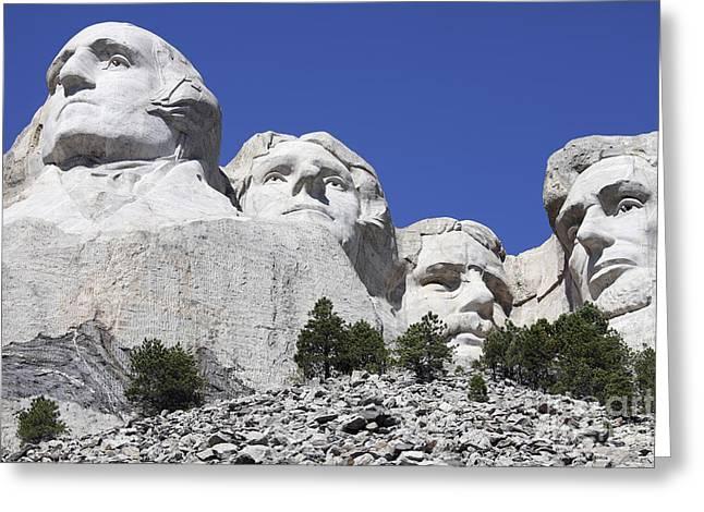 Dakota Faces Greeting Cards - Mount Rushmore National Memorial, South Greeting Card by Richard Roscoe
