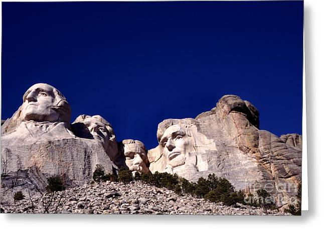 Rushmore Photographs Greeting Cards - Mount Rushmore National Memorial Greeting Card by Thomas R Fletcher