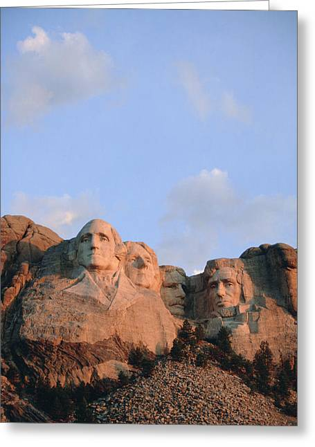 Borglum Greeting Cards - Mount Rushmore National Monument Greeting Card by Joel Sartore