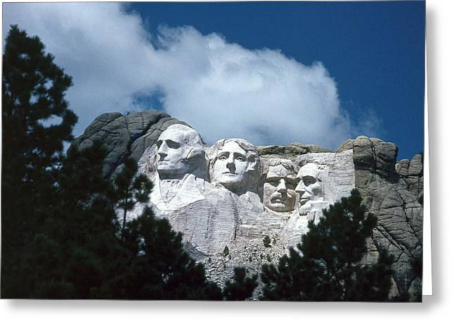 Gutzon Greeting Cards - Mount Rushmore Greeting Card by Photo Researchers Inc
