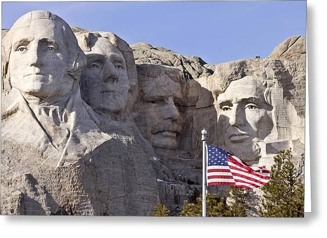 Dakota Faces Greeting Cards - Mount Rushmore South Dakota Black Hills Greeting Card by Mark Duffy