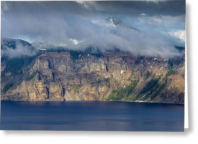 Mount Scott Cloud Shroud Greeting Card by Greg Nyquist