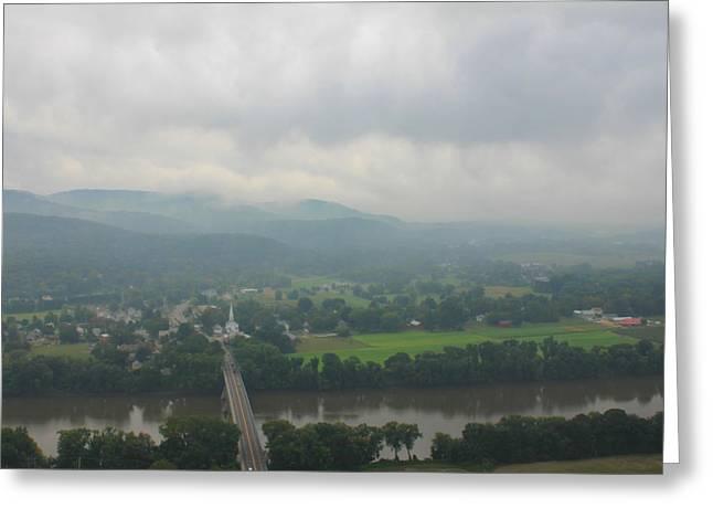 Deerfield River Greeting Cards - Mount Sugarloaf Storm Sky Greeting Card by John Burk