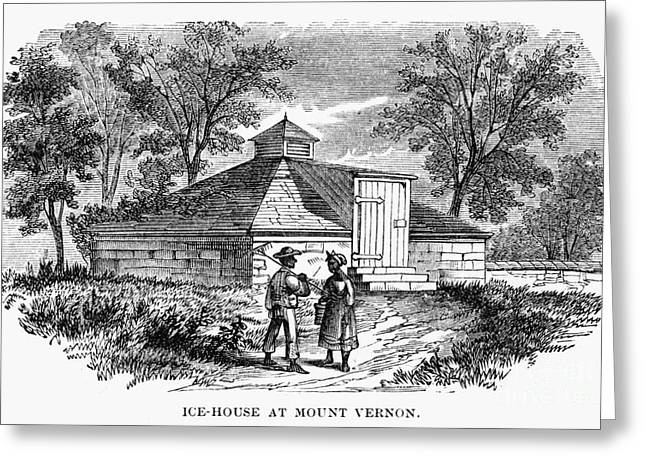 Negro Greeting Cards - Mount Vernon: Ice House Greeting Card by Granger